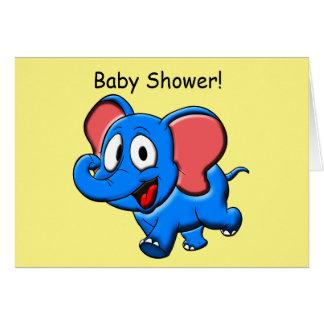 Elefant-Babyparty lädt ein Karte