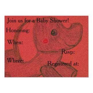 Elefant-Babypartyeinladungen 14 X 19,5 Cm Einladungskarte