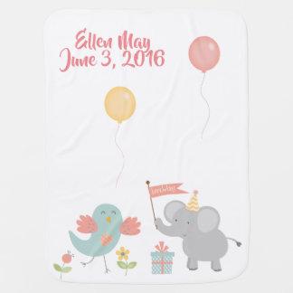 Elefant-Ballone feiern neue Baby-Decke Puckdecke