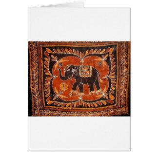 Elefant-Batik Karte