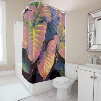 Elefant-Blätter in den tropischen Pastellen Duschvorhang