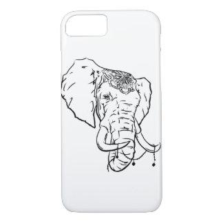 Elefant-böhmischer Telefon-Kasten iPhone 8/7 Hülle