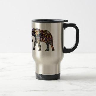 Elefant bunt edelstahl thermotasse