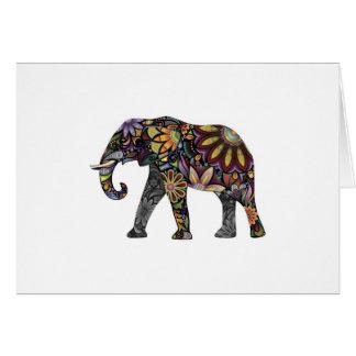 Elefant bunt karte