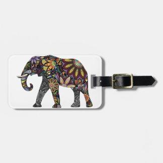 Elefant bunt kofferanhänger