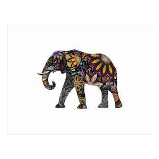 Elefant bunt postkarte