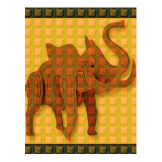 Elefant-dekorative Knopf-Kunst LUSTIGES Postkarte