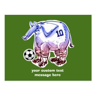 Elefant der Fußballspieler mit Ball Postkarte