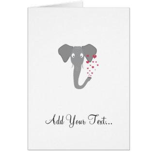 Elefant der Liebe Karte