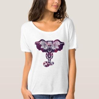Elefant der T - Shirt der Stammes- Mehndi
