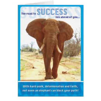Elefant-Erfolg Karte