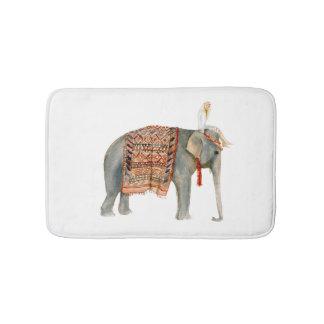 Elefant-Fahrt Badematte