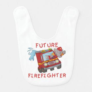Elefant-Feuerwehrmann im Feuer-Motor-Schellfisch Babylätzchen