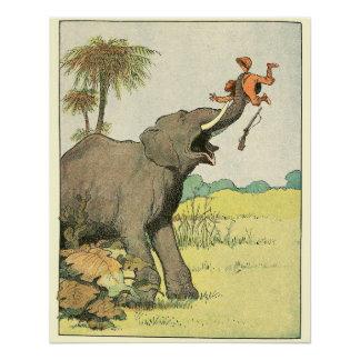 Elefant-Geschichten-Zeit-Tiere Poster