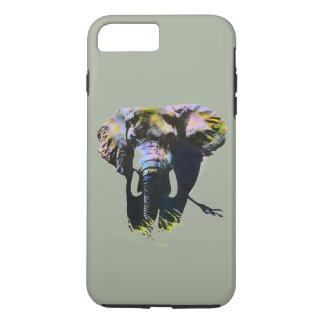 Elefant-Grafik auf grauem Hintergrund iPhone 8 Plus/7 Plus Hülle