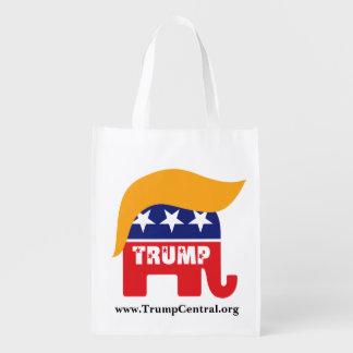 Elefant-Haar-Logo Donald Trump republikanisches Wiederverwendbare Einkaufstasche