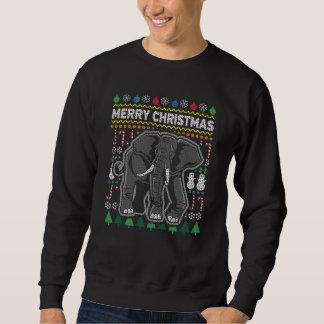 Elefant-hässliche Weihnachtsstrickjacke-Tier-Reihe Sweatshirt