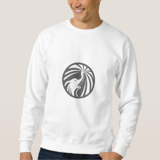 Elefant-Hauptsprühwasser-Kreis Retro Sweatshirt