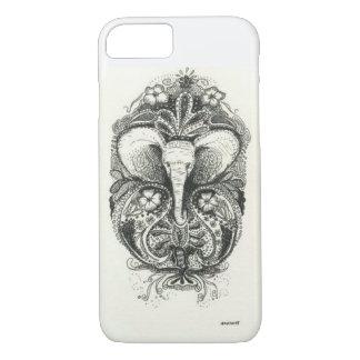 Elefant-Hennastrauch-Kasten iPhone 8/7 Hülle