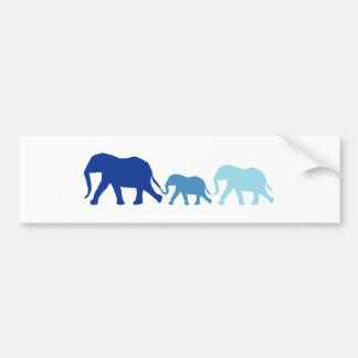 Elefant im Blau Autoaufkleber