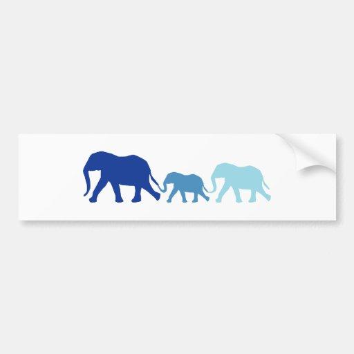 Elefant im Blau Auto Sticker