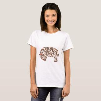Elefant im Leoparddruck T-Shirt