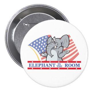 Elefant im Raum politisch Anstecknadelbuttons