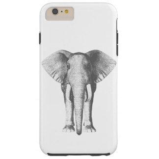 Elefant in Schwarzweiss Tough iPhone 6 Plus Hülle