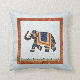 """Elefant-indisches blaues weißes Wurfs-Kissen 20"""" x Zierkissen"""