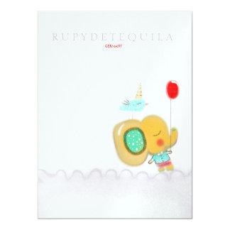 Elefant-Jungen-Einladung 2013 16,5 X 22,2 Cm Einladungskarte
