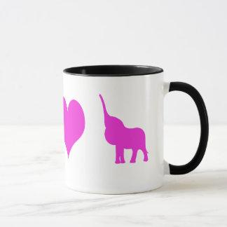 Elefant-Kaffee-Tasse der Liebe I Tasse