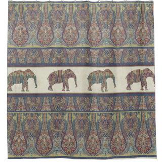 Elefant-Kaschmir-Muster Stammes- Boho Böhme Duschvorhang