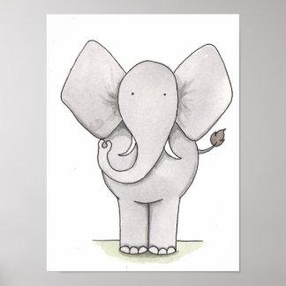 Elefant-Kinderzimmer-Kunst Poster