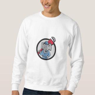 Elefant-Klempner-Affe-Schlüssel-Kreis-Cartoon Sweatshirt