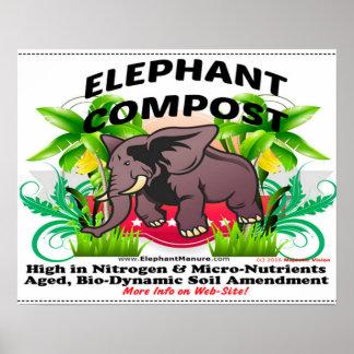 Elefant-Kompost-Plakat Poster