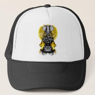 Elefant-königliches Löwe-und Vogel-Logo Truckerkappe