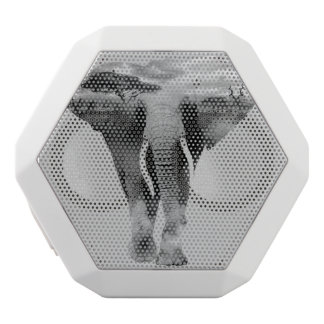 Elefant - Kunst der doppelten Belichtung Weiße Bluetooth Lautsprecher