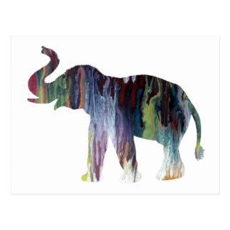 Elefant-Kunst Postkarte