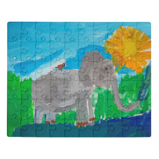 Elefant-Kunst von Kindern Puzzle
