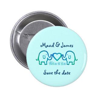 Elefant-Liebe Runder Button 5,7 Cm