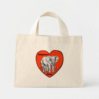 Elefant-Liebetasche Mini Stoffbeutel
