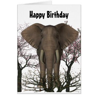 Elefant-Liebhaber-Geburtstags-Karte Karte