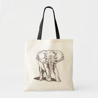 Elefant-Linie Zeichnen Tragetasche