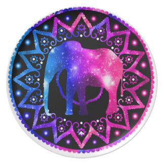 Elefant-Mandala Teller