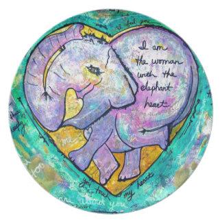 Elefant Melaminteller