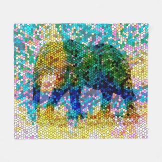 Elefant Mosaik des Entwurfs 37 Fleecedecke