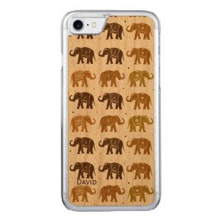 Elefant-Muster hölzernes iPhone 6 Carved iPhone 8/7 Hülle