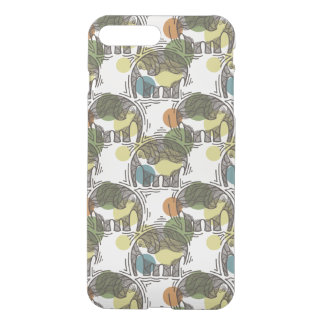 Elefant-Muster iPhone 8 Plus/7 Plus Hülle