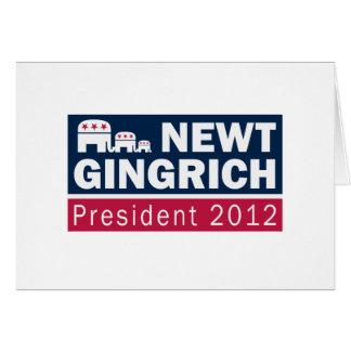 Elefant Newt- Gingrichpräsidenten-2012 Karte