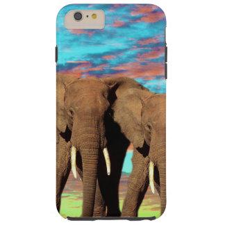 Elefant-Opalsonnenaufgang, Tough iPhone 6 Plus Hülle